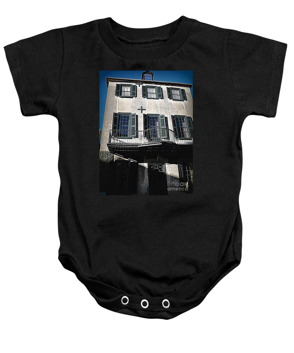 Houses Baby Onesie featuring the photograph Charleston Houses by Susanne Van Hulst