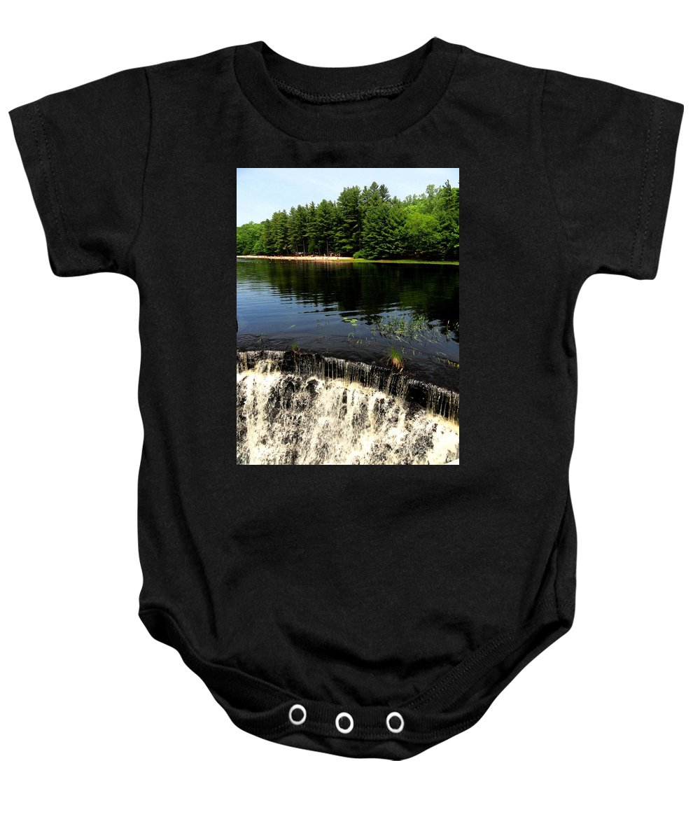 Chatfield Hollow State Park Baby Onesie featuring the photograph Chatfield Hollow Pond by Meandering Photography