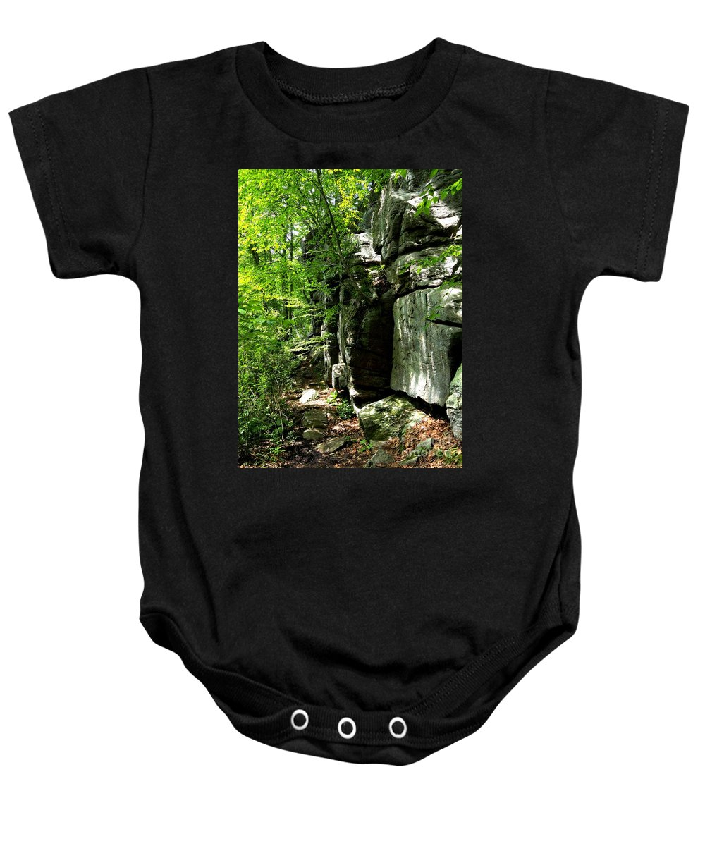 Rock Baby Onesie featuring the photograph Chatfield Rock Face by Meandering Photography