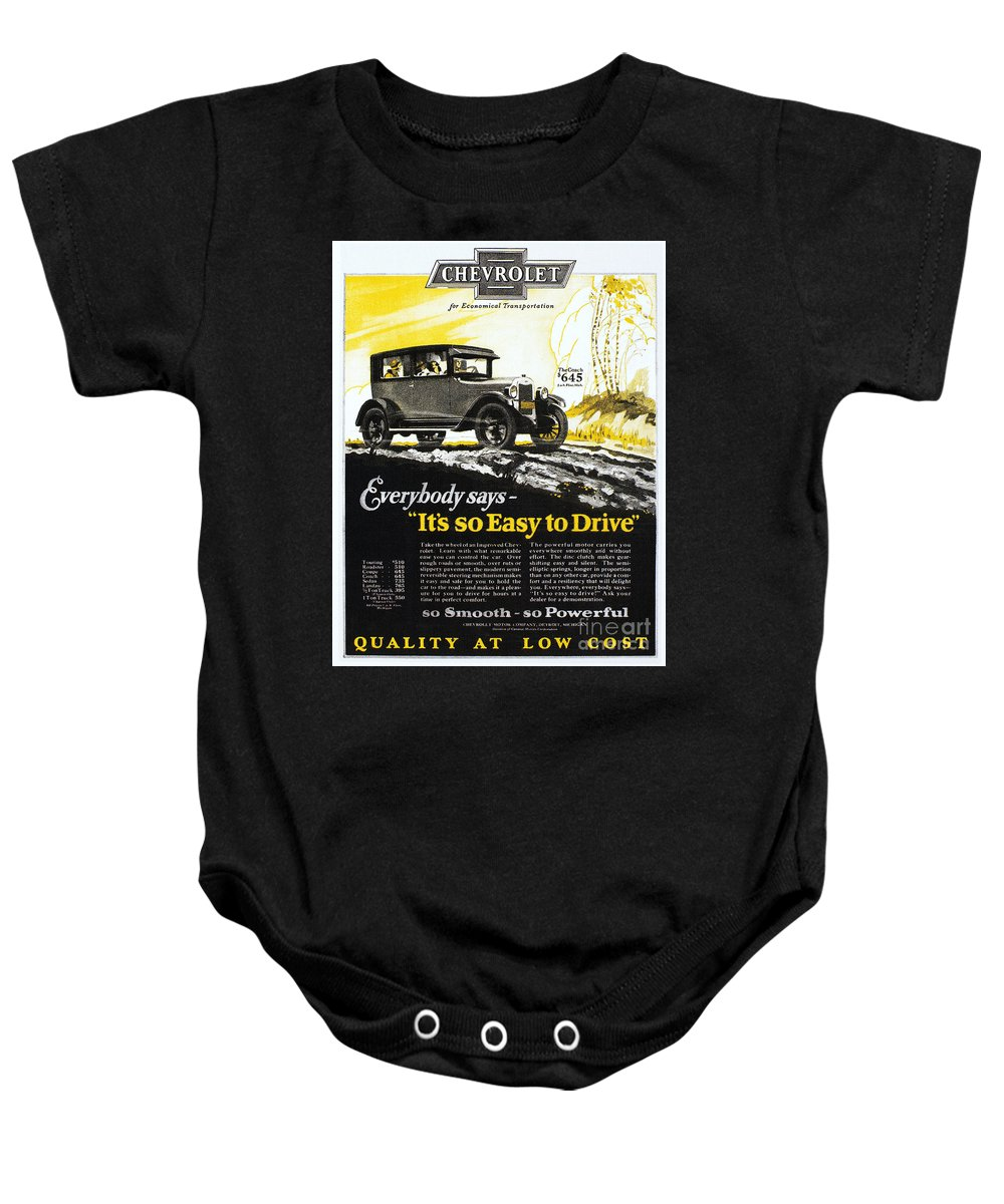 1926 Baby Onesie featuring the photograph Chevrolet Ad, 1926 by Granger