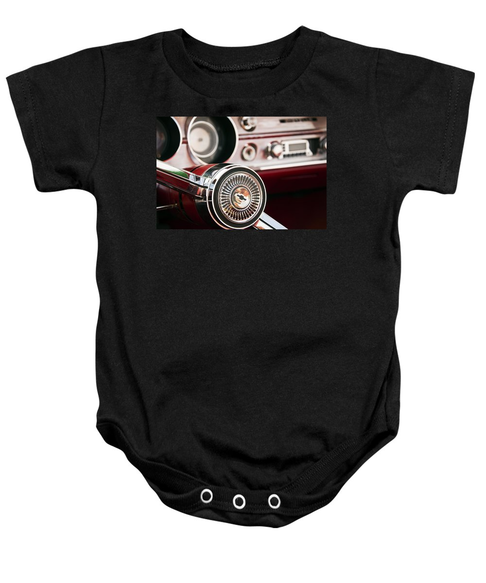 Chevy Baby Onesie featuring the photograph Chevy 327 Malibu Ss by Glenn Gordon