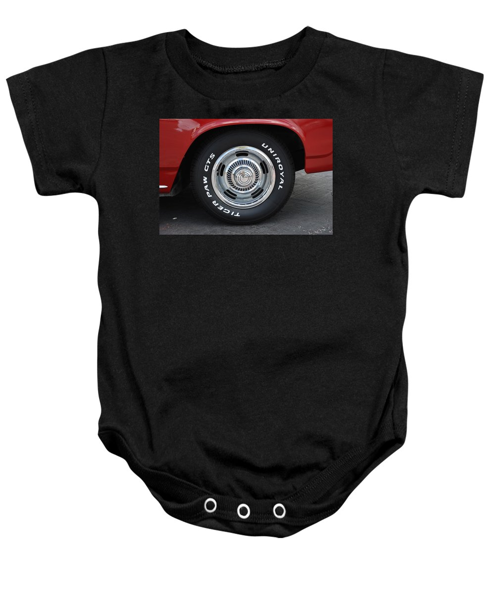 Chevy Baby Onesie featuring the photograph Chevy Rims by Rob Hans