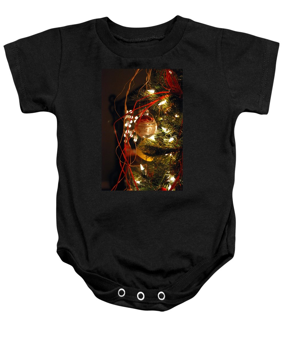 Festive Baby Onesie featuring the photograph Christmas Ornament by Charles Bacon Jr