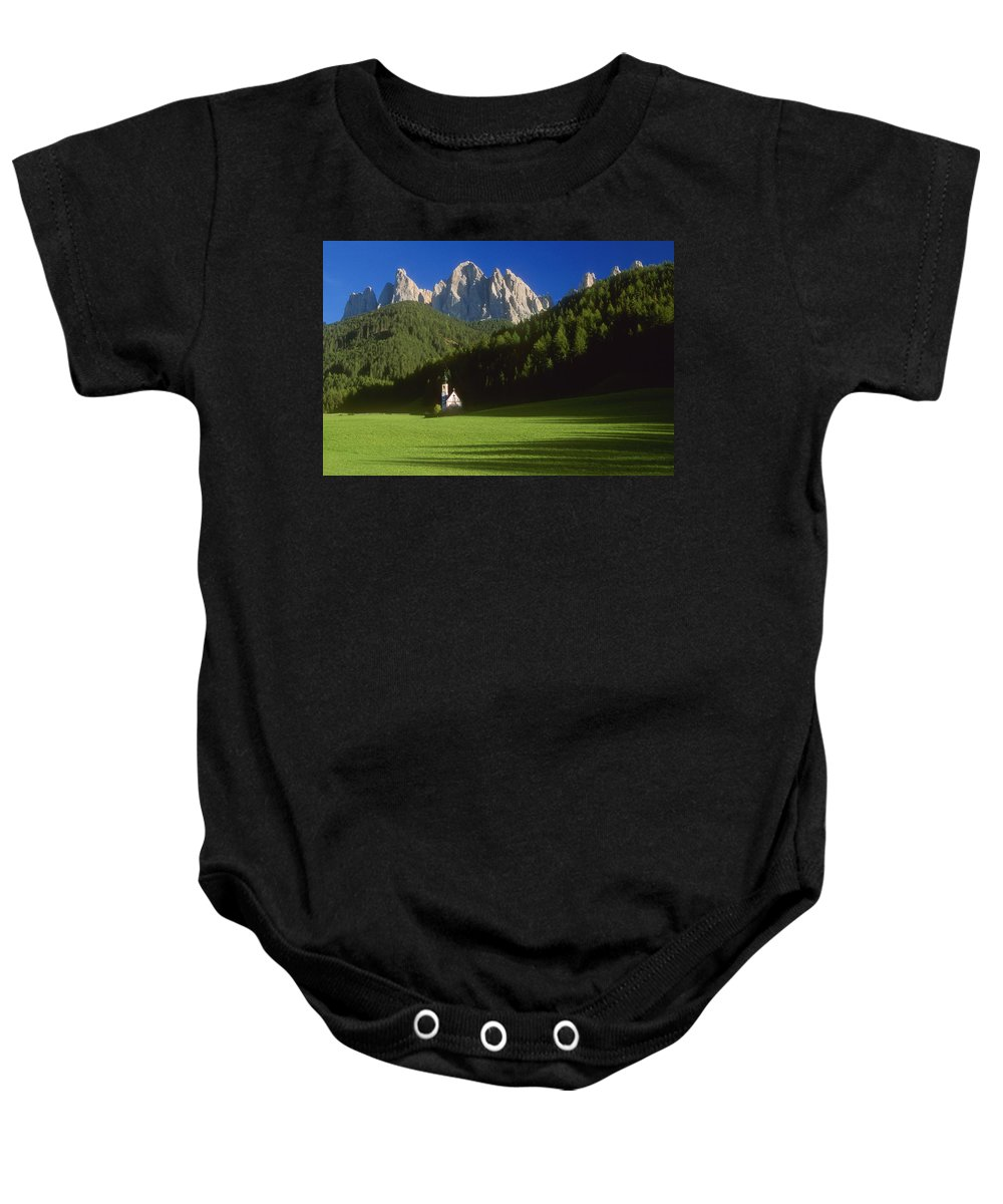 Bavaria Baby Onesie featuring the photograph Church In The Countryside by Bilderbuch