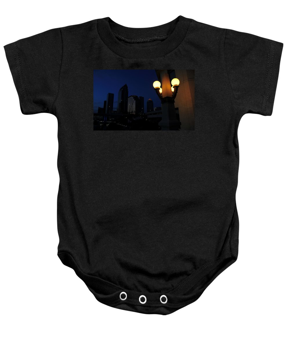 Fine Art Photography Baby Onesie featuring the photograph Cigar City Night by David Lee Thompson