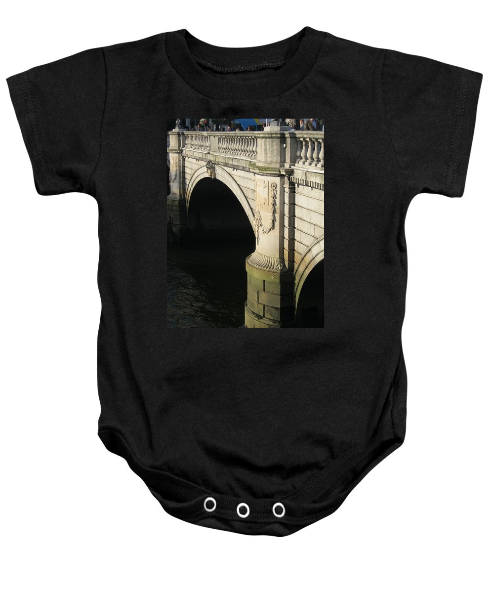 Dublin Baby Onesie featuring the photograph City 0016 by Carol Ann Thomas