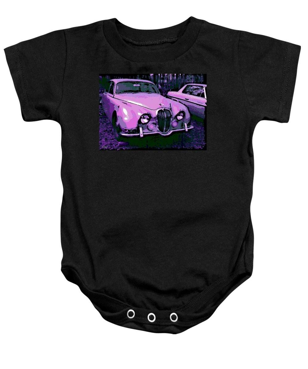 Jaguar Baby Onesie featuring the photograph Classic In Pink by George Pedro