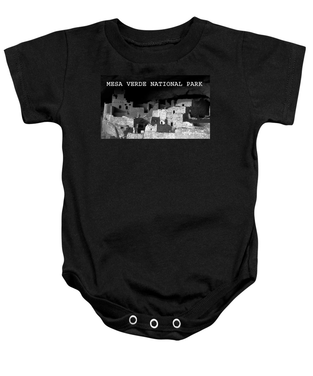 Fine Art Photography Baby Onesie featuring the photograph Cliff Palace by David Lee Thompson