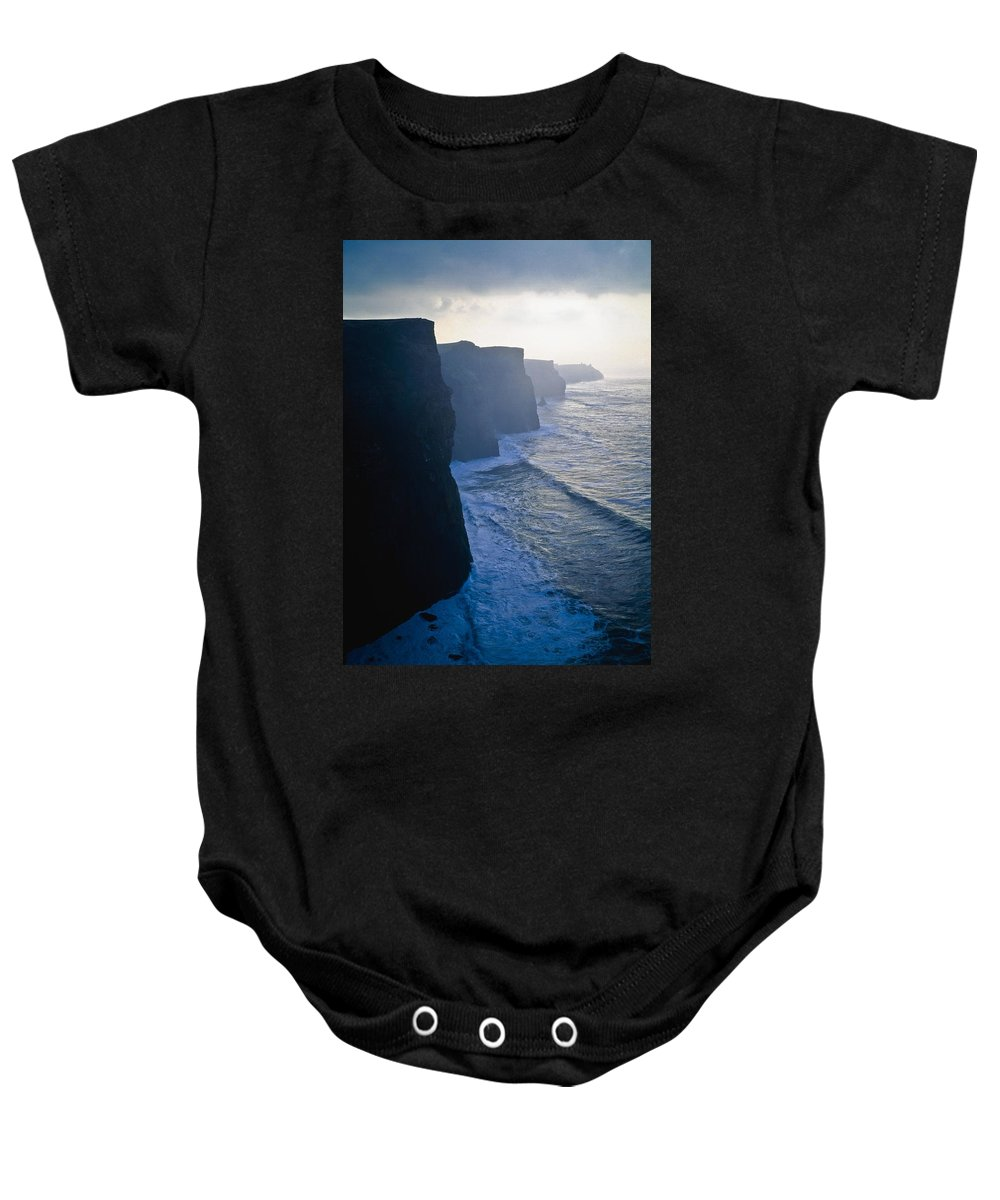 Cliffs Baby Onesie featuring the photograph Cliffs Of Moher,co Clare,irelandview Of by The Irish Image Collection