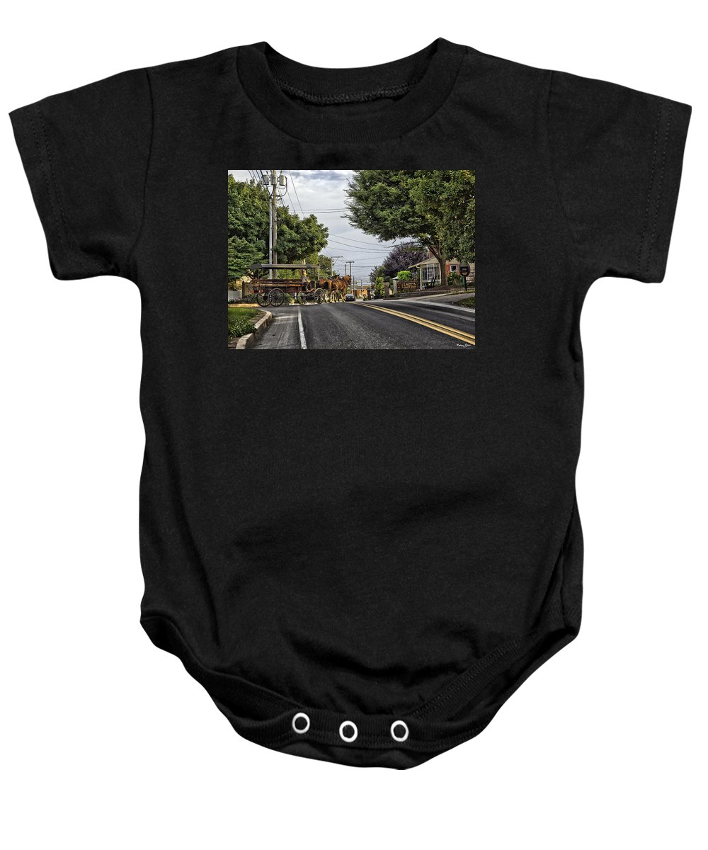 Amish Baby Onesie featuring the photograph Closed On Sundays - Amish Country by Madeline Ellis