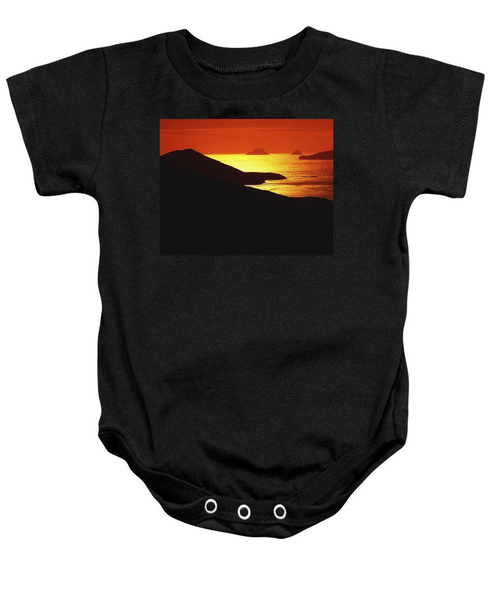 Co Kerry Baby Onesie featuring the photograph Co Kerry, Skellig Rocks From by The Irish Image Collection