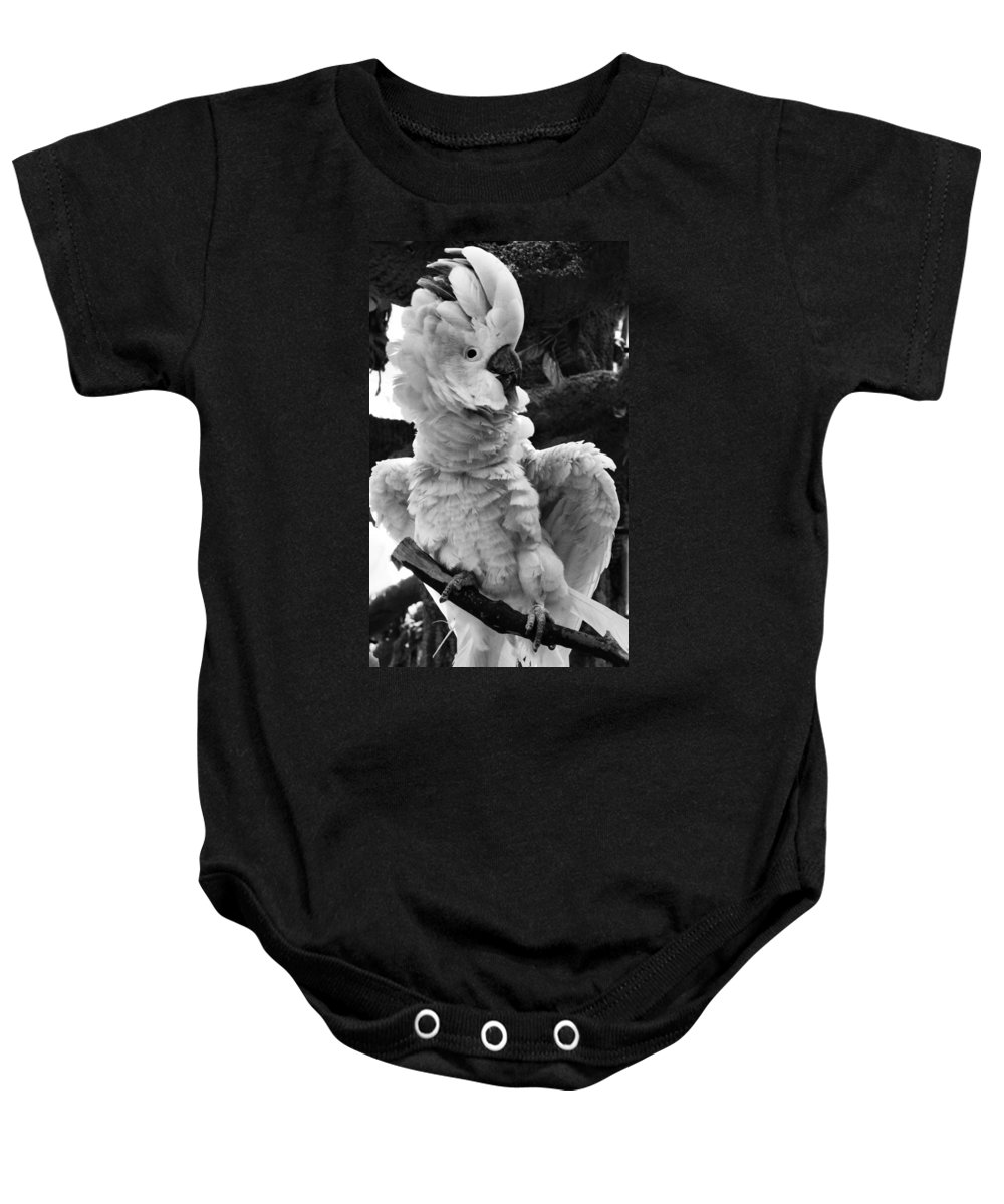 Cockatoo Baby Onesie featuring the photograph Cockatoo by Sally Bauer