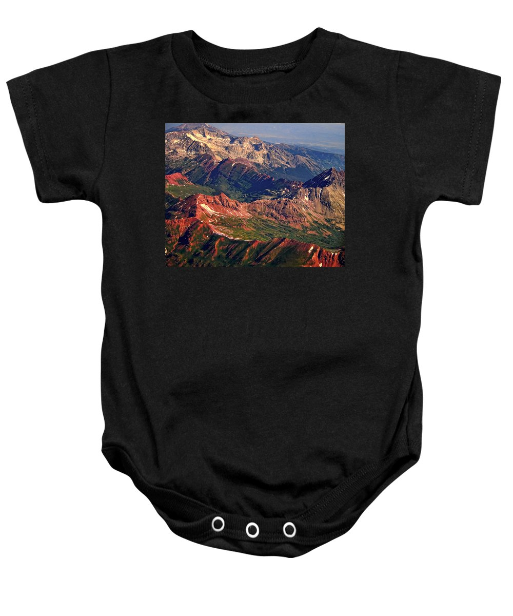 Colorful Baby Onesie featuring the photograph Colorful Colorado Rocky Mountains Planet Art by James BO Insogna