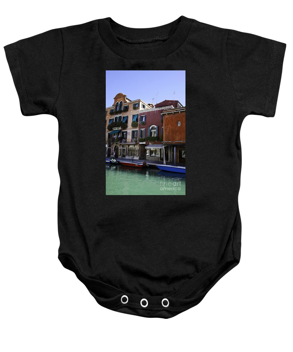 Venice Baby Onesie featuring the photograph Colors Of Venice by Madeline Ellis