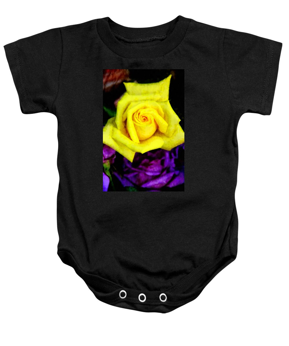 Rose Baby Onesie featuring the photograph Compliments by Angelina Vick