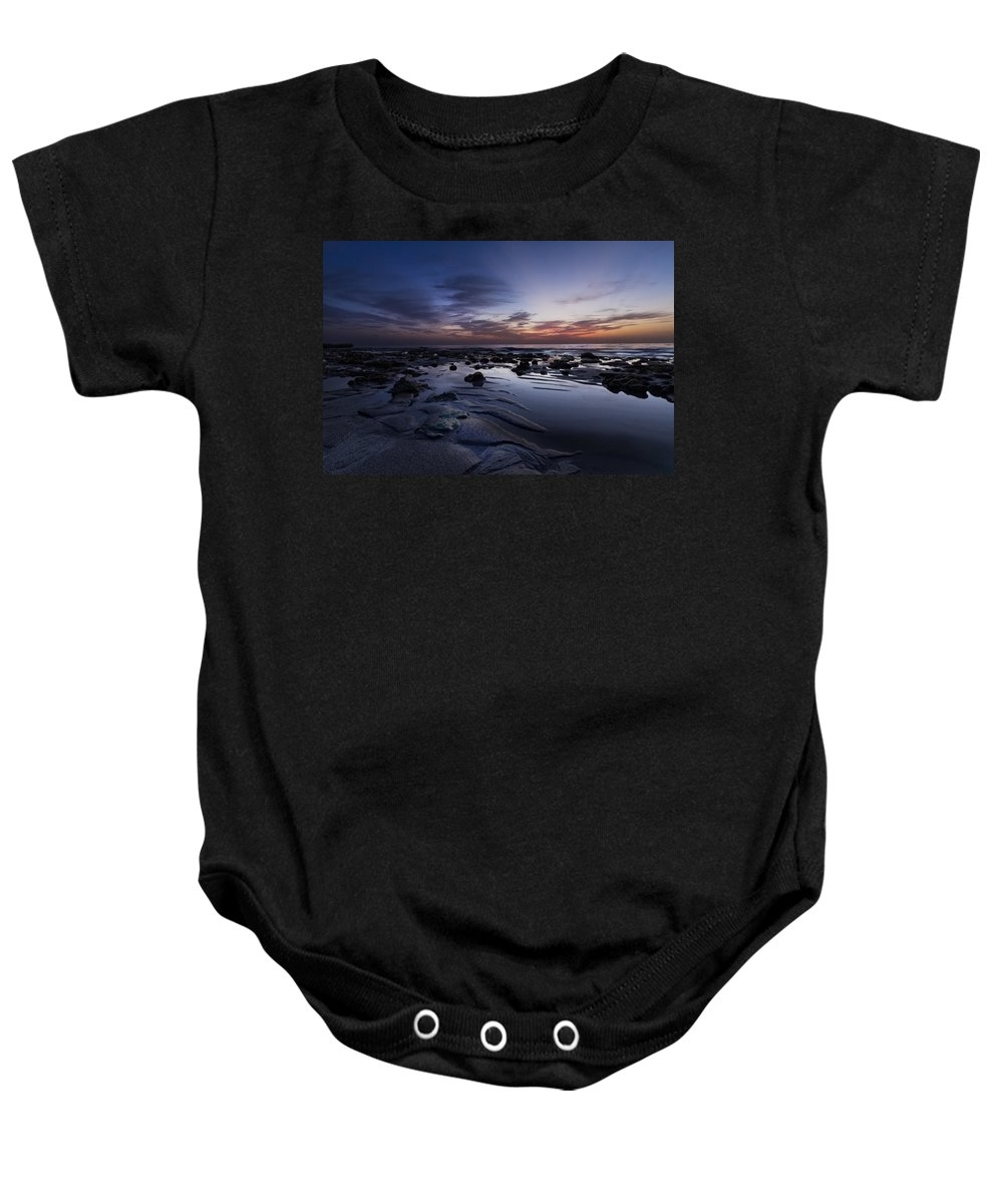 American Baby Onesie featuring the photograph Coral Mirror by Debra and Dave Vanderlaan
