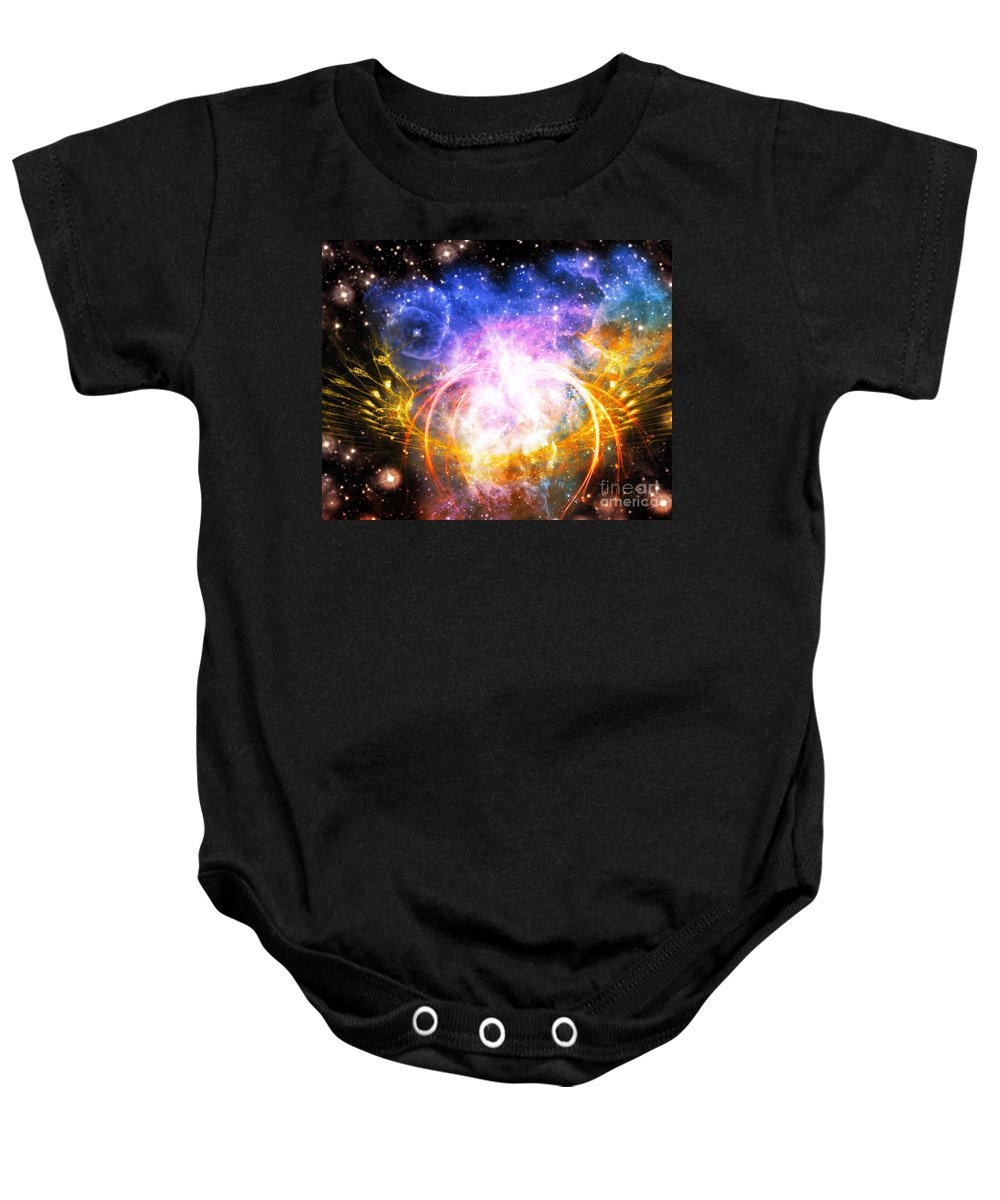 Baby Onesie featuring the digital art Cos 50 by Taylor Webb