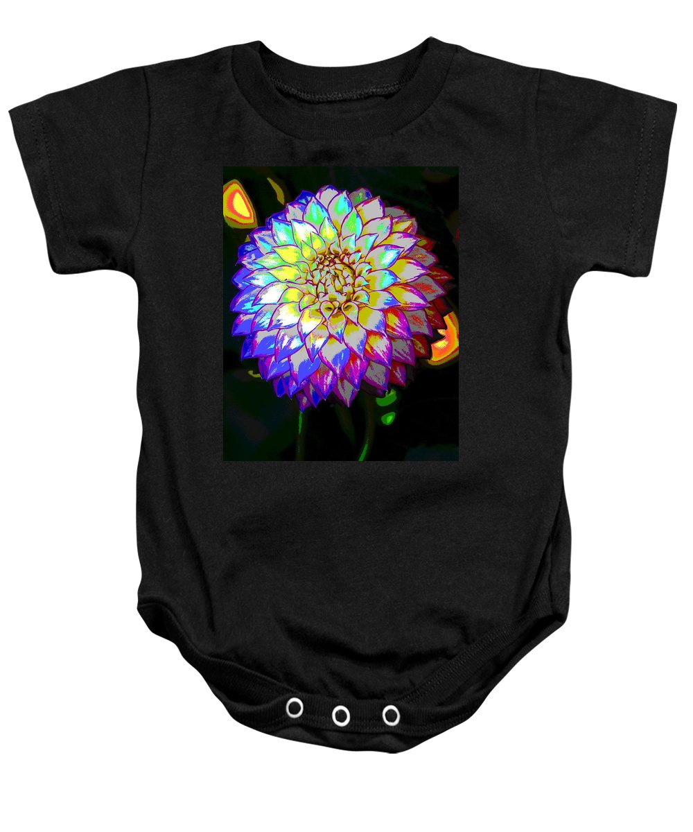 Flowers Baby Onesie featuring the photograph Cosmic Natural Beauty by Ben Upham III
