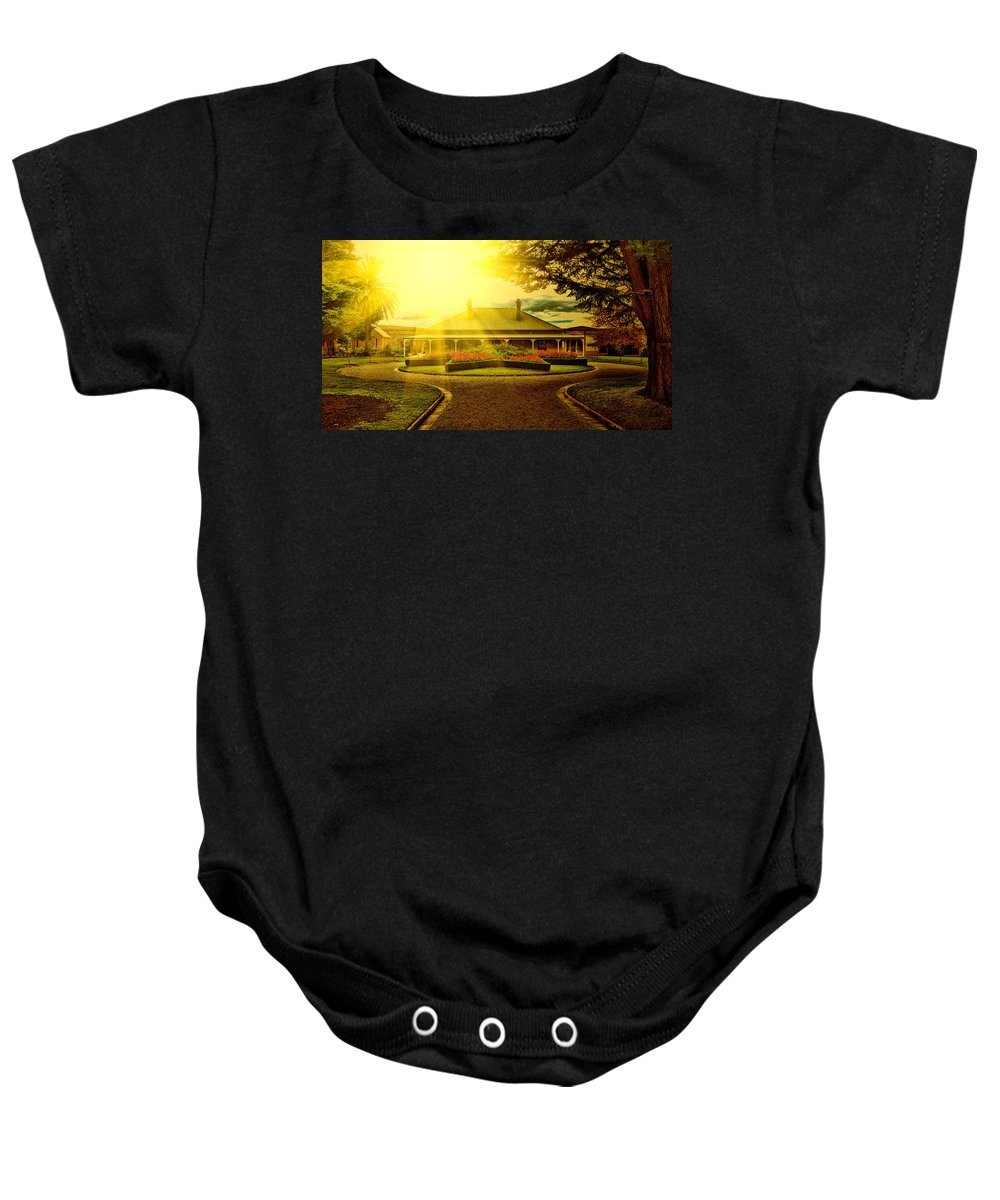 Country Estate Baby Onesie featuring the photograph Country Estate by Douglas Barnard