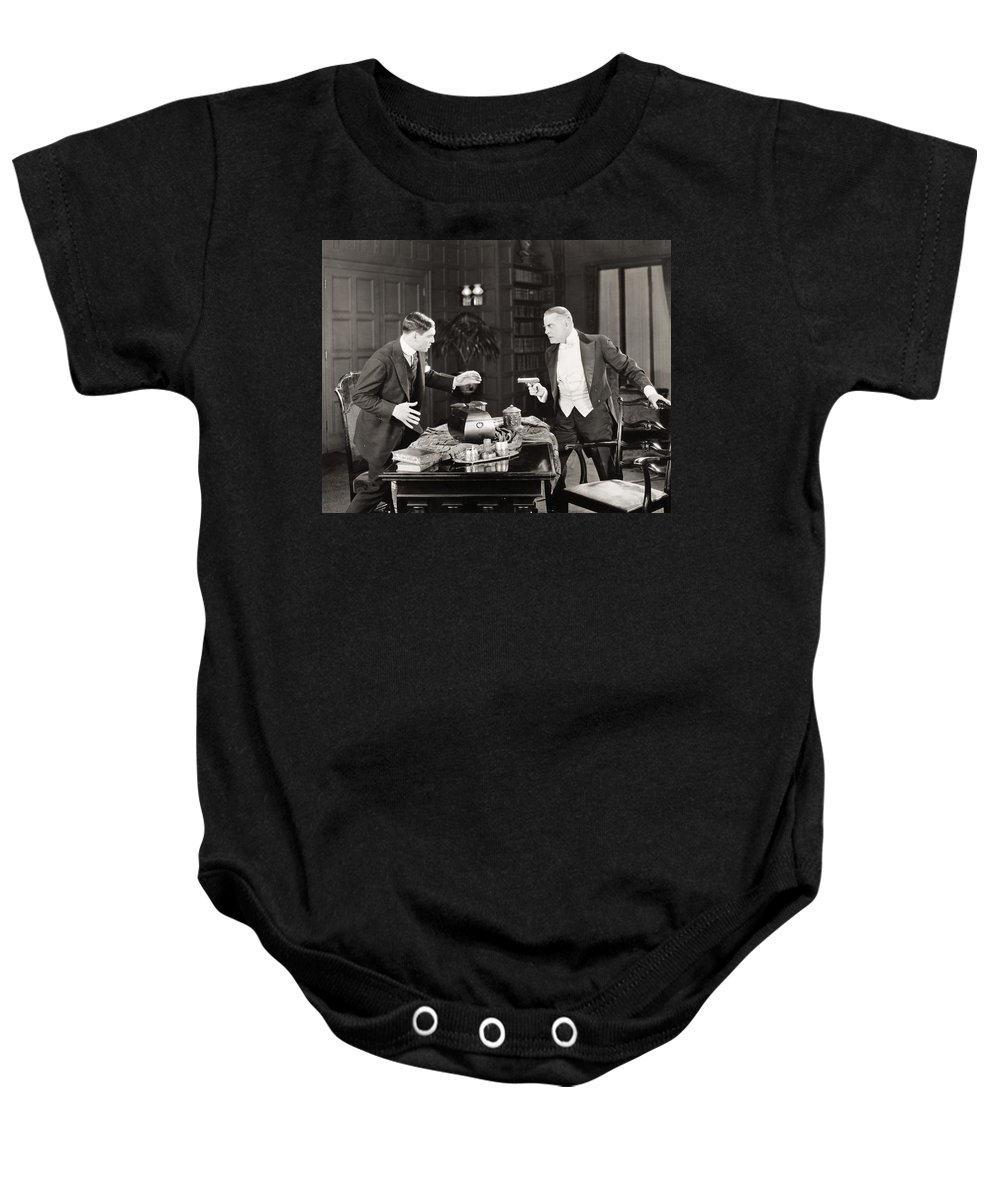 -guns- Baby Onesie featuring the photograph Daredevil Jack, 1920 by Granger