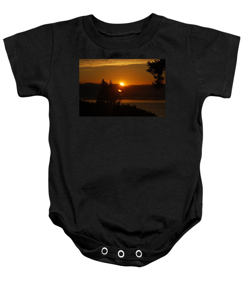 Sunrise Baby Onesie featuring the photograph Daybreak by Michael Merry