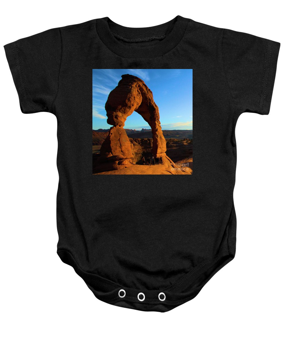 Delicate Arch Baby Onesie featuring the photograph Delicate Landmark by Adam Jewell