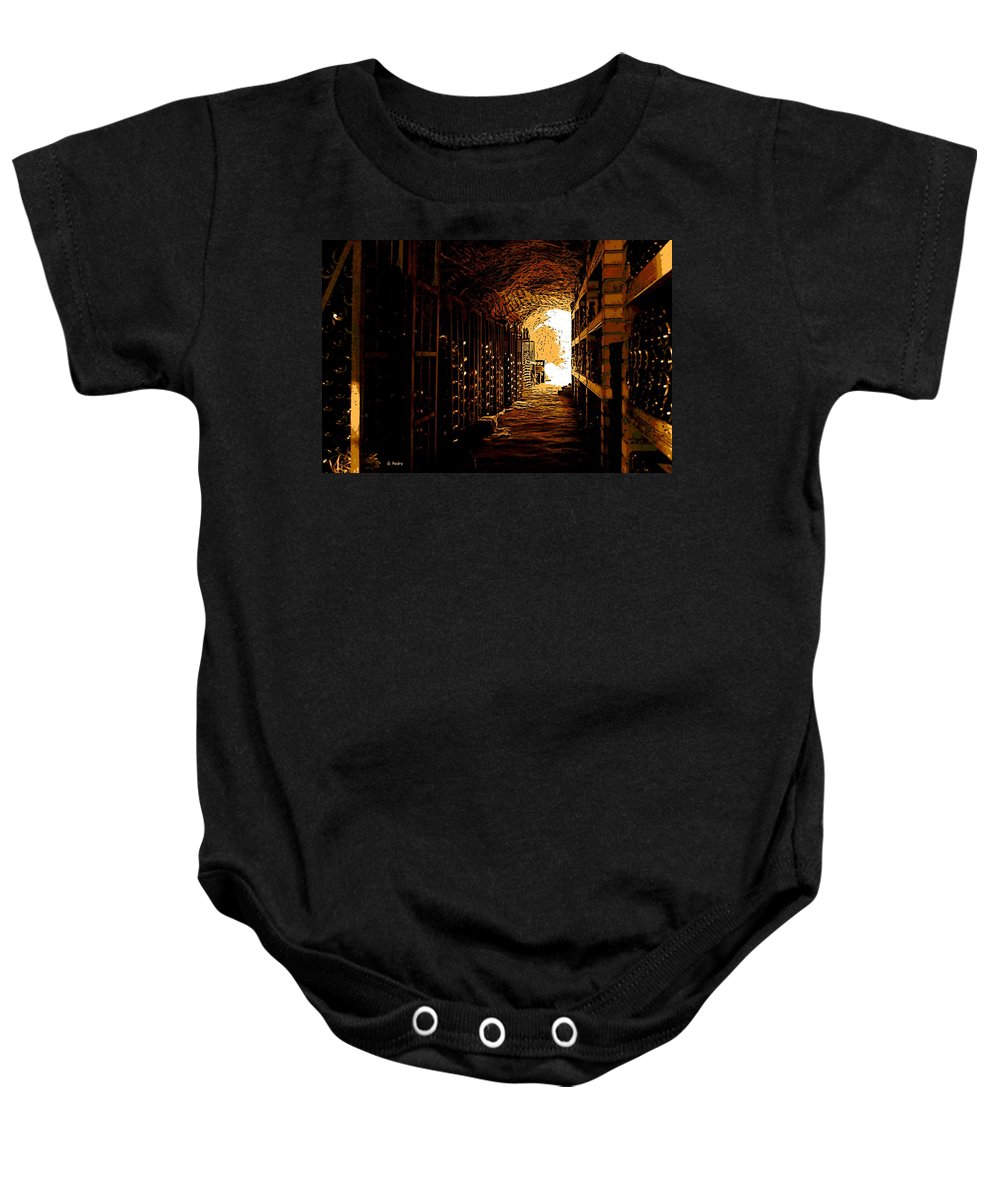 Wine Baby Onesie featuring the photograph Den Of Dionysus by George Pedro