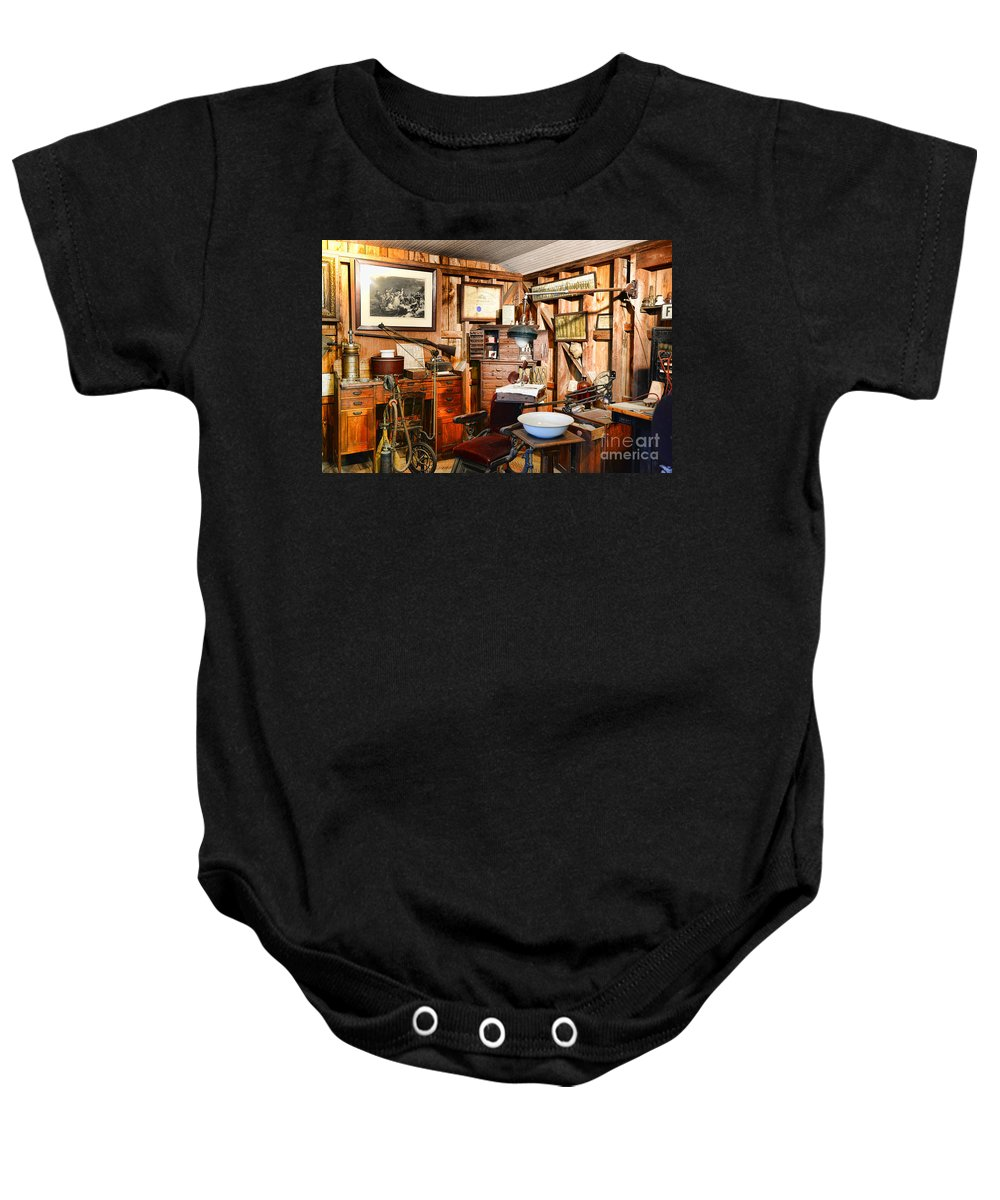 Dentist Baby Onesie featuring the photograph Dentist - The Dentist Office by Paul Ward