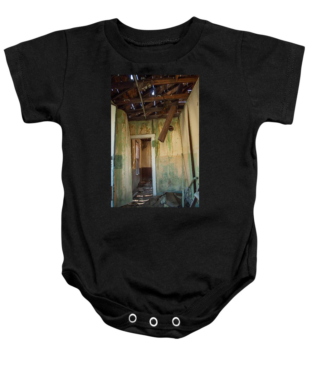 Deteriorate Baby Onesie featuring the photograph Deterioration by Fran Riley