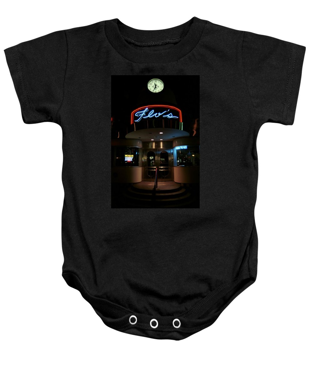 Diner Baby Onesie featuring the photograph Diner At Night by Andrew Fare
