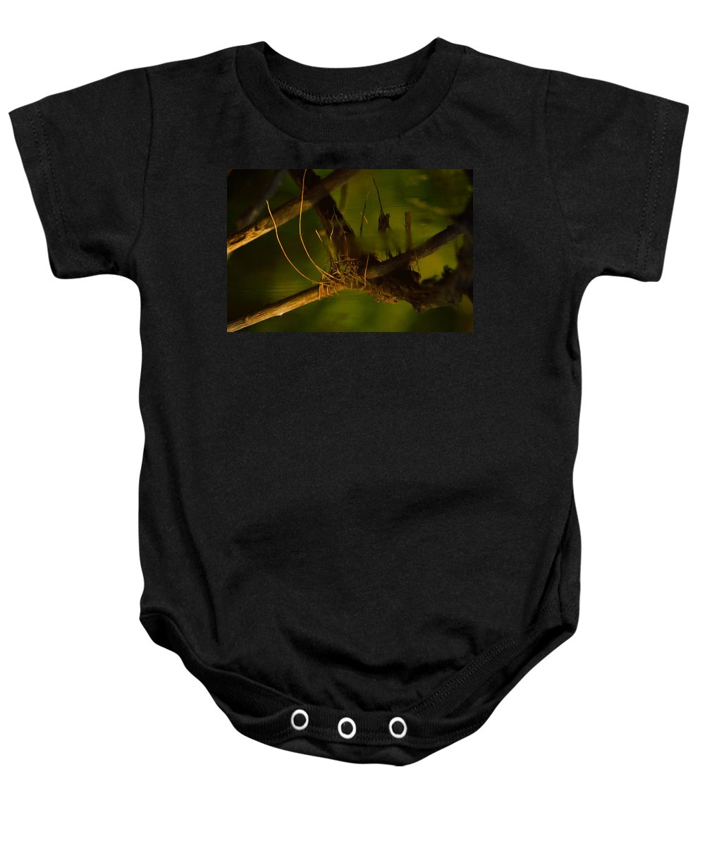 Abstract Baby Onesie featuring the photograph Down In The Deep by Susan Capuano