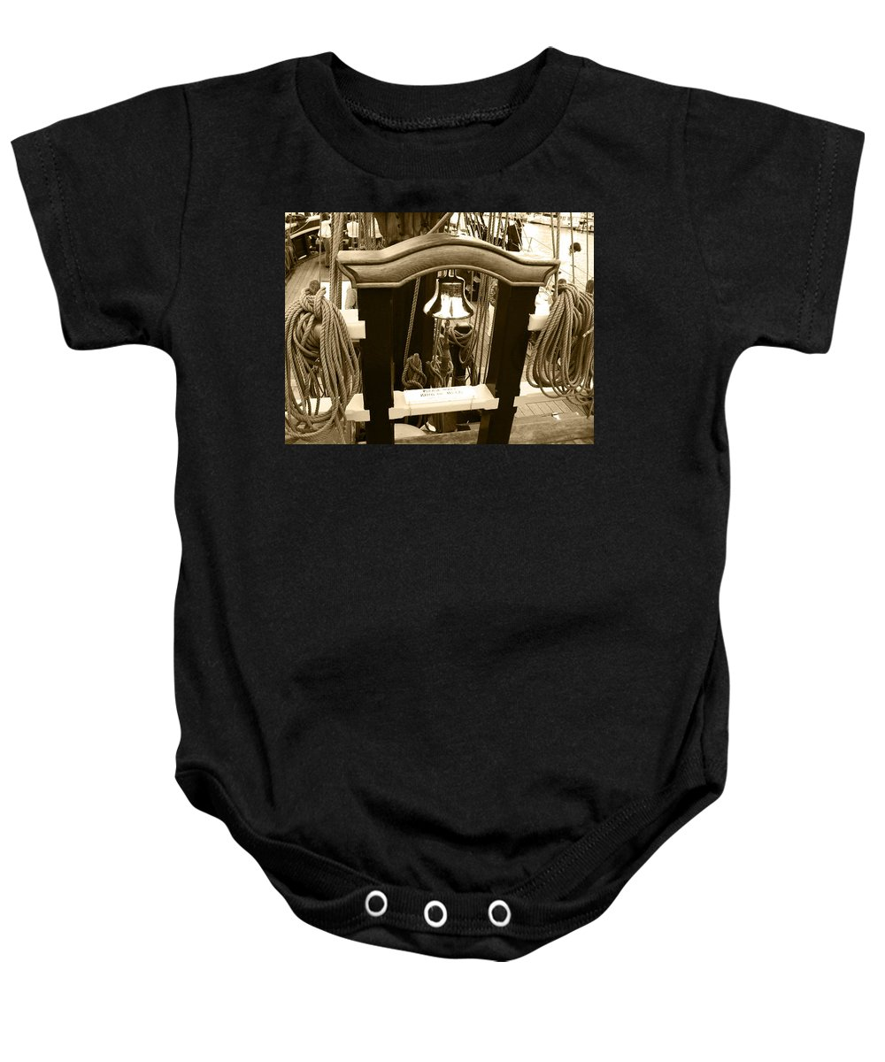 Bell Baby Onesie featuring the photograph Down To The Sea And Ships by Kym Backland