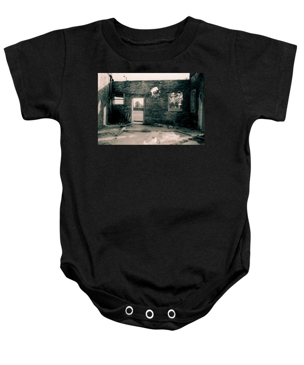 Louisiana Baby Onesie featuring the photograph Downtown Monroe by Doug Duffey