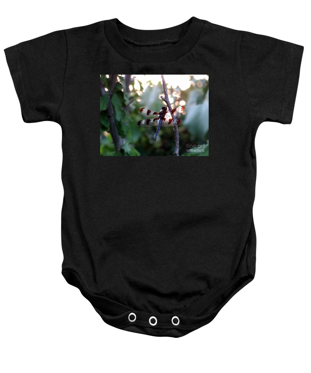 Dragonfly Baby Onesie featuring the photograph Dragonfly by Laurel Best