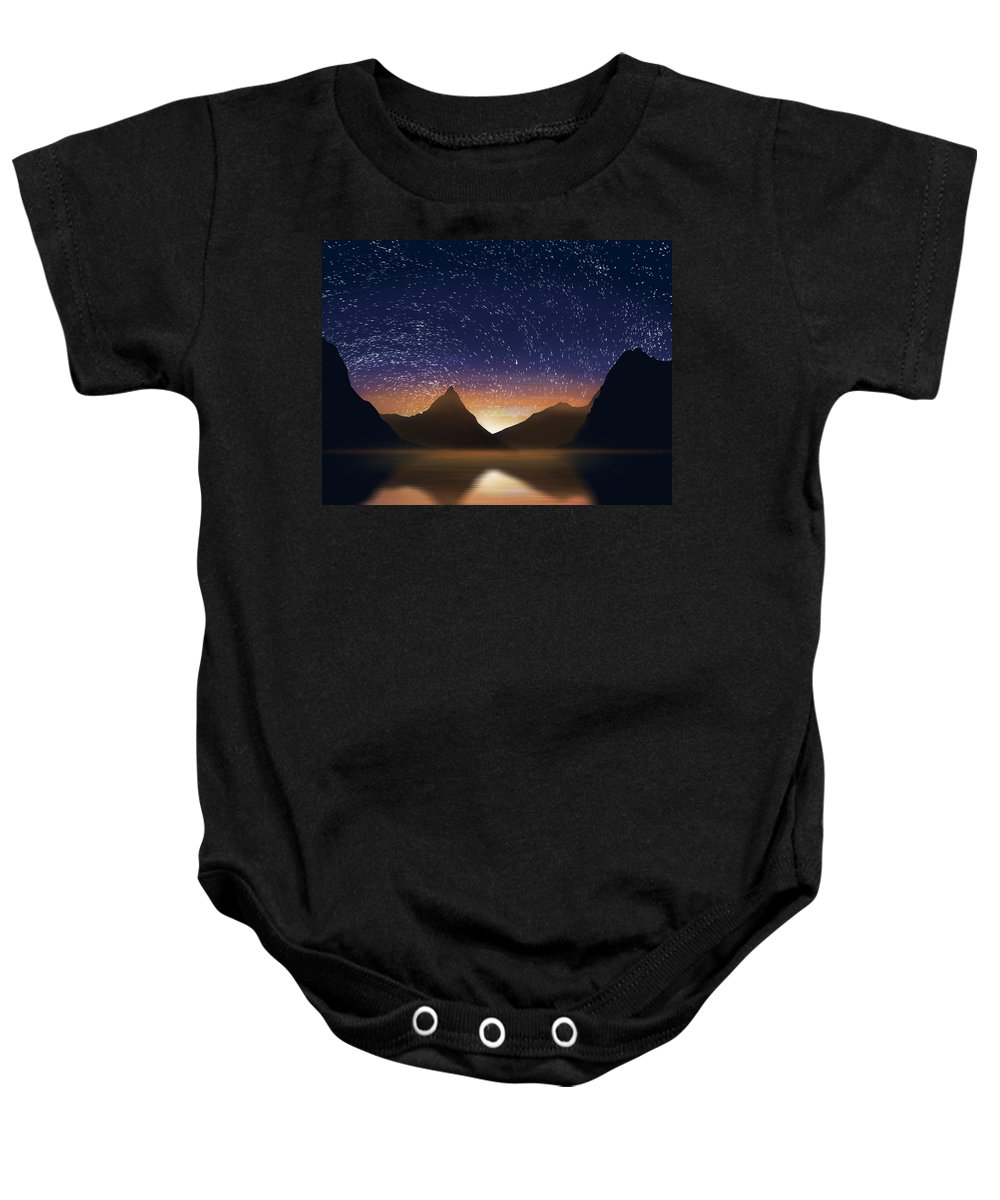 Abstract Baby Onesie featuring the photograph Dramatic Landscape by Setsiri Silapasuwanchai