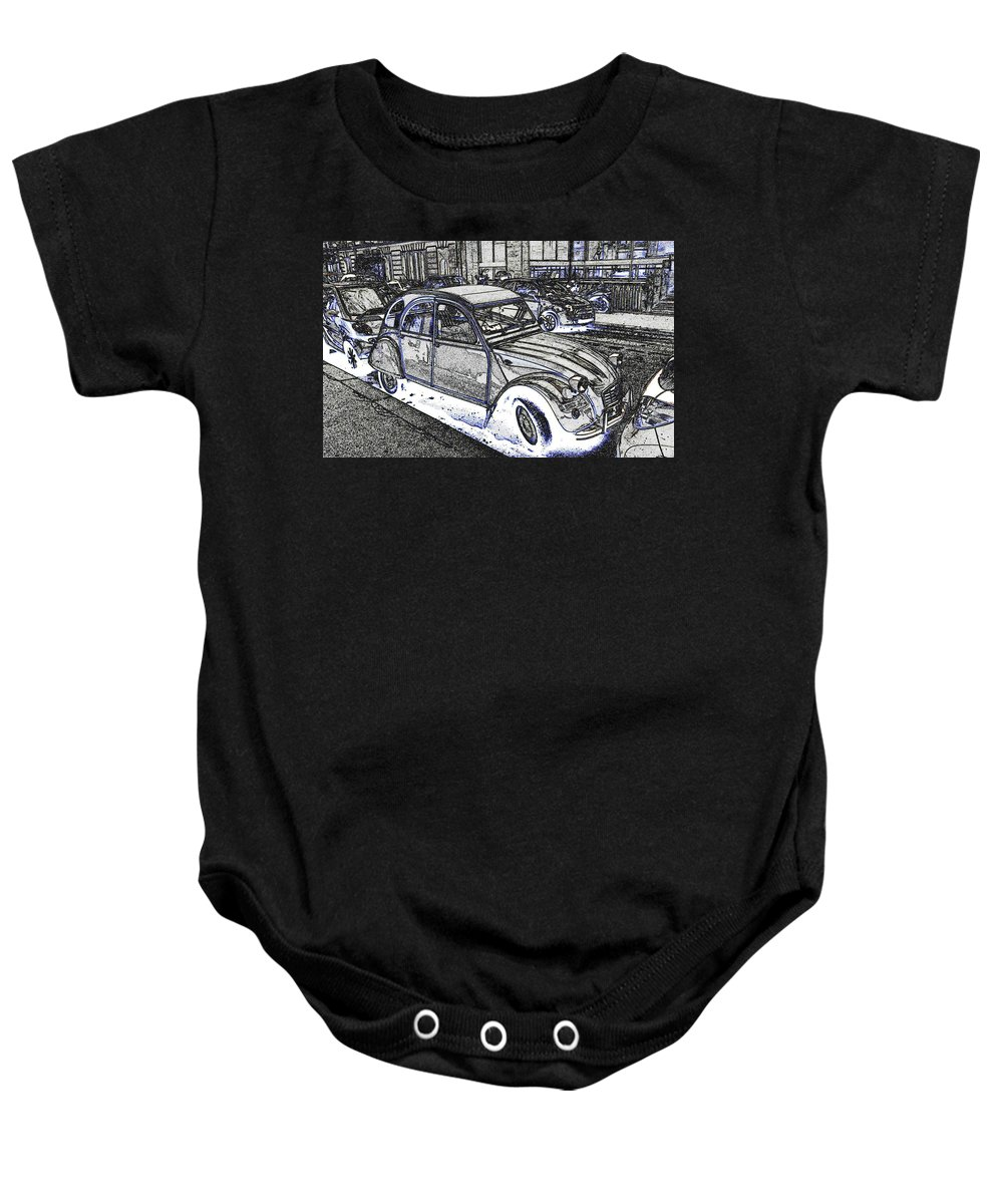 Citroen Baby Onesie featuring the photograph Dream Car by Eric Tressler