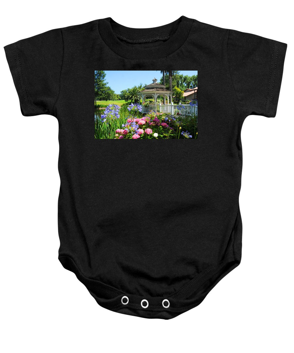 Gazebo Baby Onesie featuring the photograph Dream Gazebo by Lynn Bauer