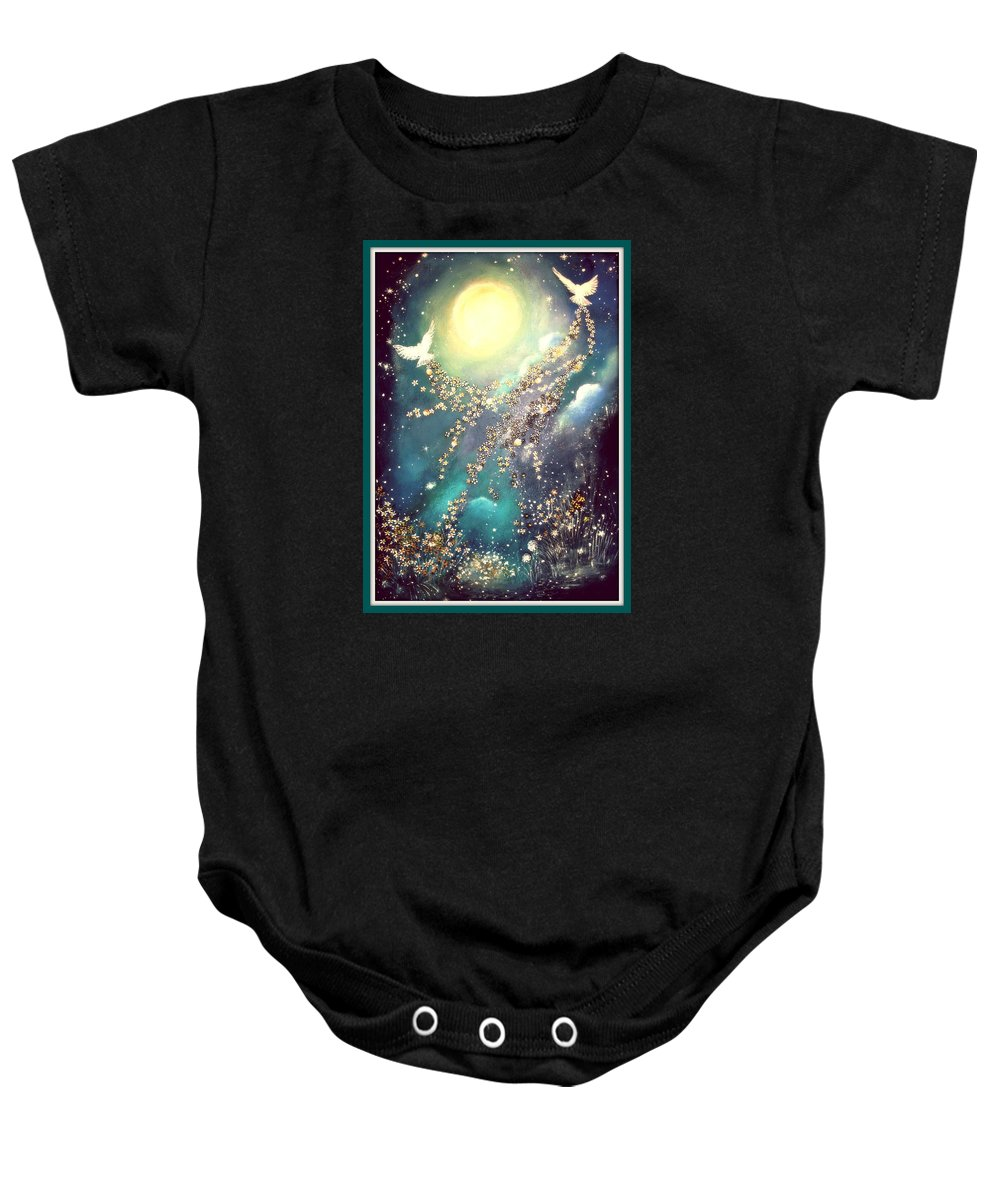 Blue Baby Onesie featuring the painting Dreamland by Milenka Delic