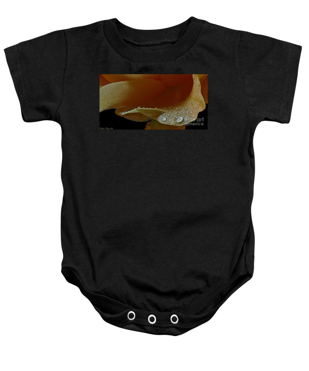 Nature Baby Onesie featuring the photograph Drops Of Light by Debbie Portwood