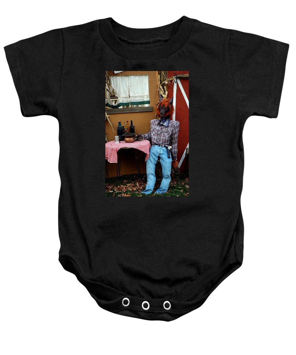 Usa Baby Onesie featuring the photograph Drunk Werewolf Diner by LeeAnn McLaneGoetz McLaneGoetzStudioLLCcom