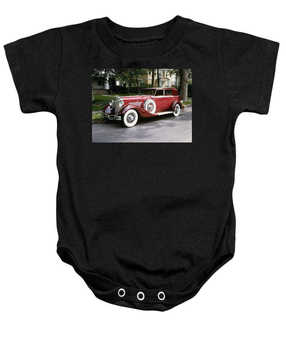 1930 Baby Onesie featuring the photograph Duesenberg, 1930 by Granger