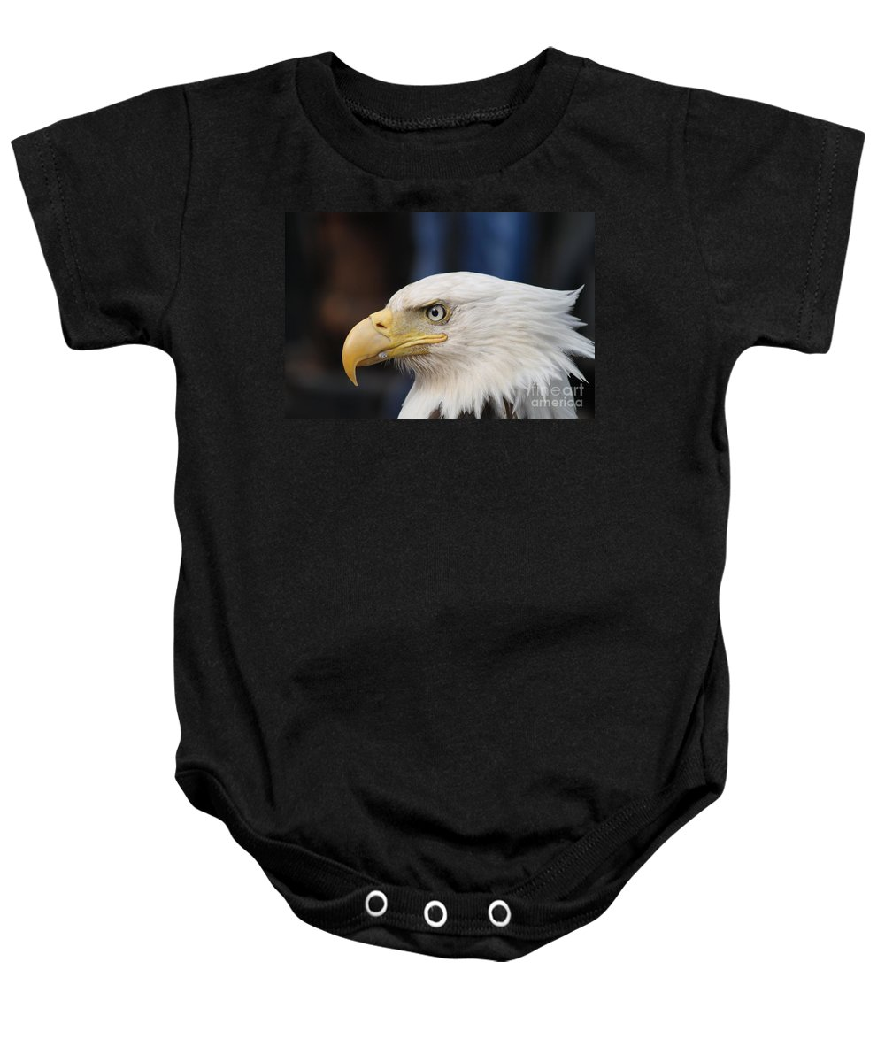 Soaring Baby Onesie featuring the photograph Eagle Head by Dean Gribble