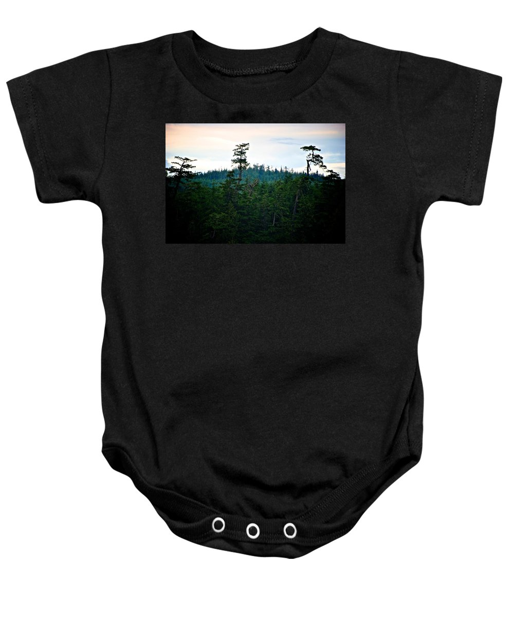 Eagle Baby Onesie featuring the photograph Eagle's Perch by Eric Tressler