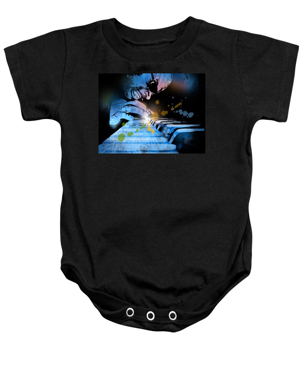 Blues Baby Onesie featuring the painting Earl R Johnson by Paul Sachtleben