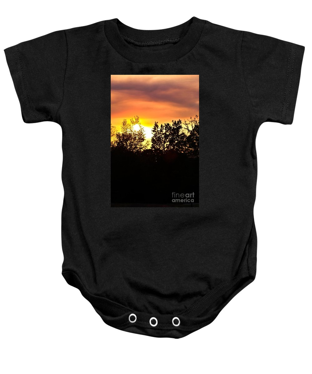 East Tx Sunset Baby Onesie featuring the photograph East Texas Sunset by Kim Henderson