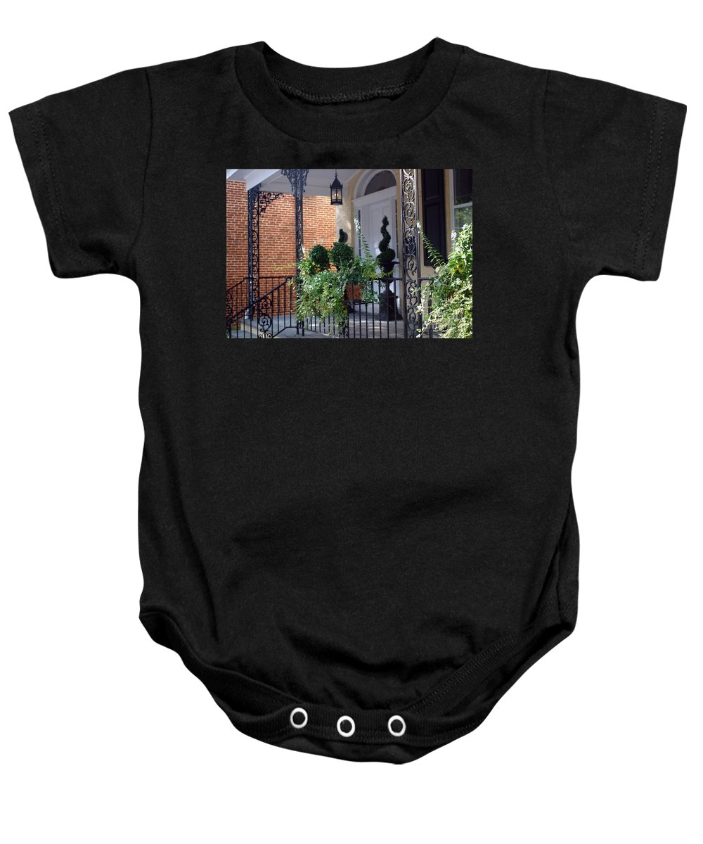 Entrance Baby Onesie featuring the photograph Elegant Entrance by Living Color Photography Lorraine Lynch