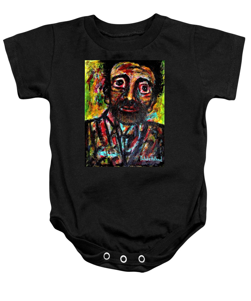 Man Baby Onesie featuring the painting Eligible Bachelor by Natalie Holland