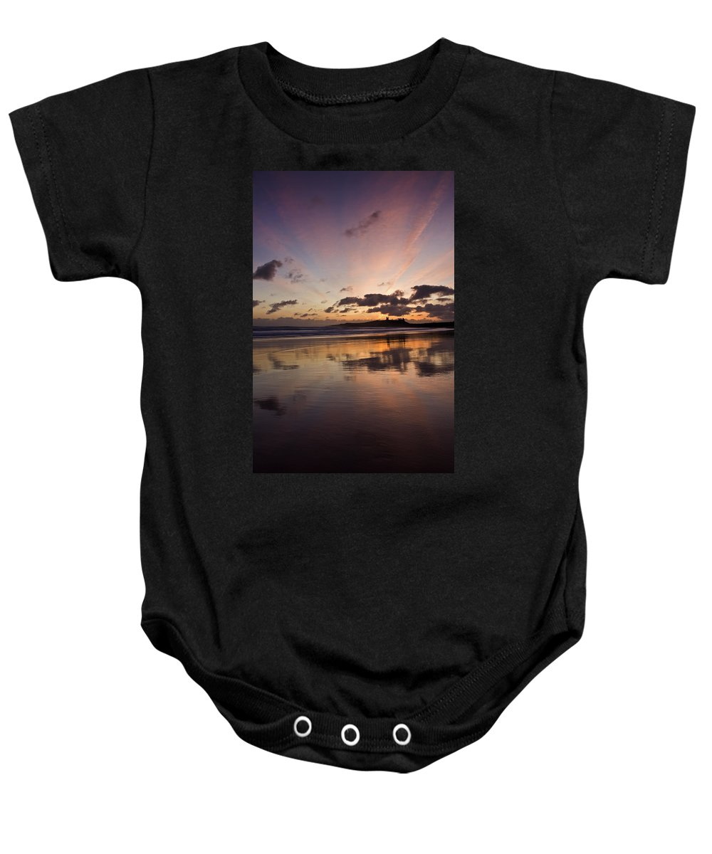 Embleton Baby Onesie featuring the photograph Embleton Bay Sunrise by David Pringle