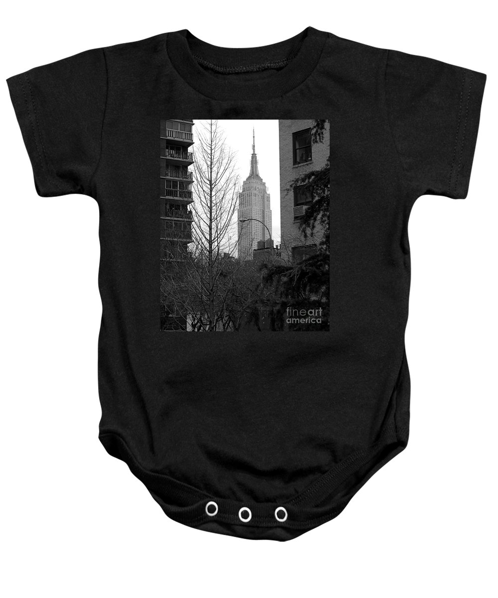 Empire State Building Baby Onesie featuring the photograph Empire State Building by Mark Gilman