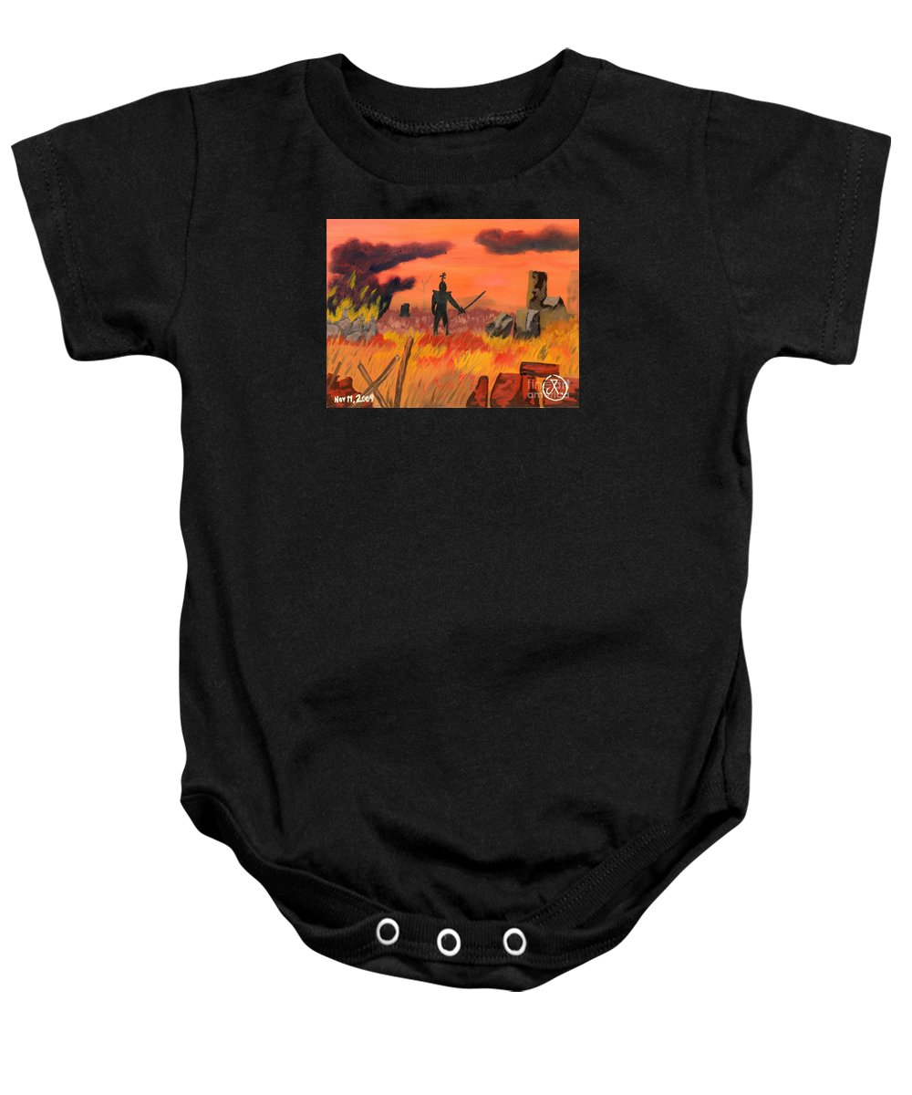 Landscape Baby Onesie featuring the painting Epicinium by JT Peyton